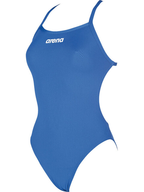 arena Solid Lighttech High One Piece Swimsuit Women royal-white